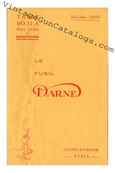 1960 Darne Shotgun Catalog/Price List