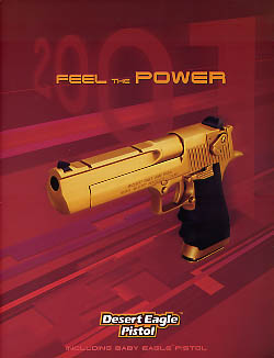 2001 Desert Eagle Pistol Catalog