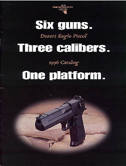 1996 Desert Eagle Pistol Catalog