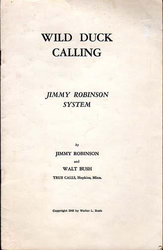 1945 Jimmy Robinson Duck Calling Booklet