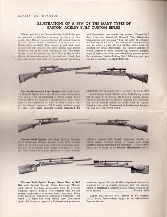 1952 Easton Eng./P.O. Ackley Division Catalog