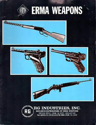 1971 Erma / RG Industries Catalog