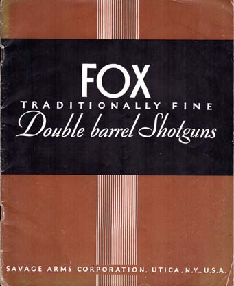1937 Fox Shotguns Catalog