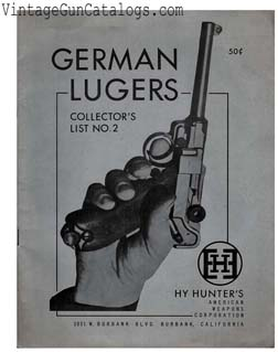 Ca.-1957 Hy Hunter's Carbo-Jet Luger Catalog