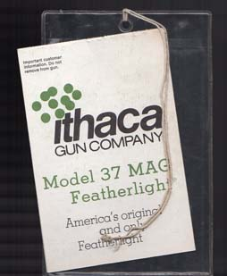 1970-80's Ithaca Model 37 Mag Featherlite