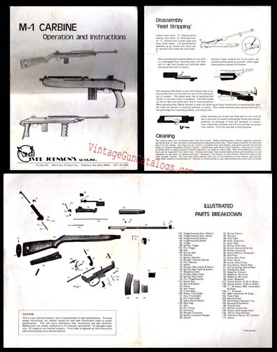 1986 Iver Johnson M1 Carbine Instruction Folder