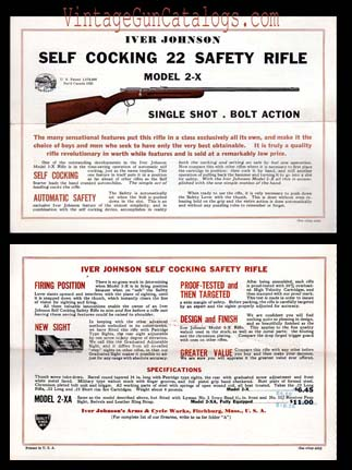 1932 Iver Johnson 22 Safety Rifle Adv.Broadsheet
