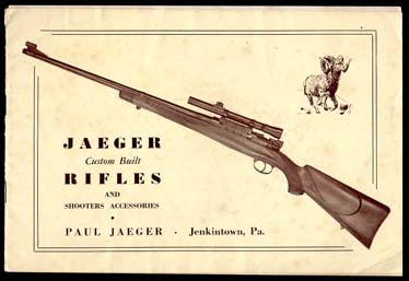 1951 Jaeger Custom Rifles Catalog