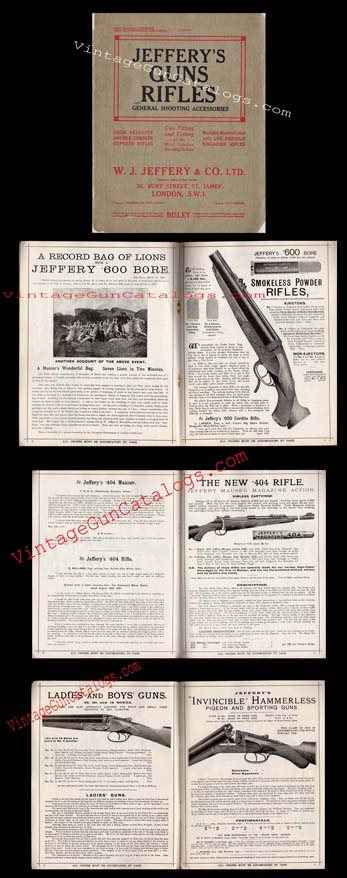 "1920's ""Jefferey's Guns Rifles"" Catalog"