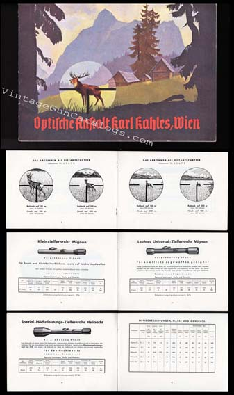 1950's Kahles Riflescopes Catalog