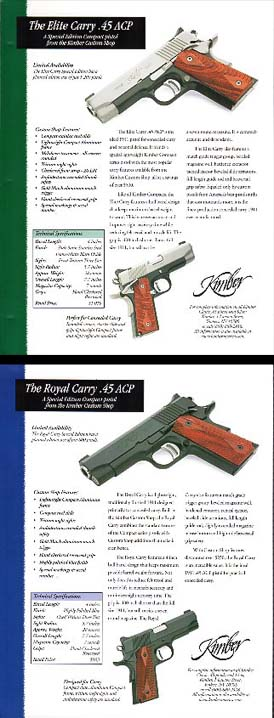 1998 Kimber Custom Shop .45 Broadsheets
