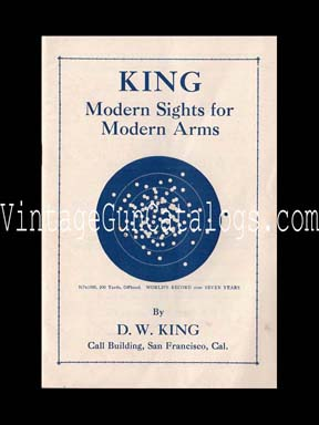 1925 King Gunsights Catalog