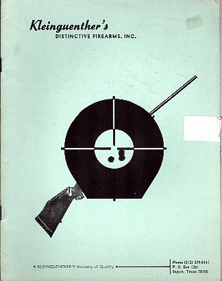 1972 Kleinguenther's Distinctive Firearms Catalog