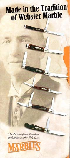 2001 Marble's Pocketknife Brochure