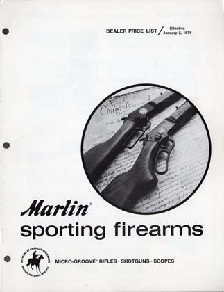 1971 Marlin Dealer Price List-Catalog