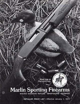 1974 Marlin Retailer Price List-Catalog
