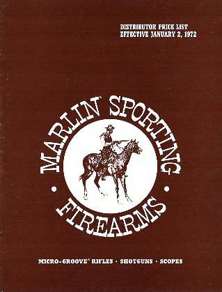 "1972 Marlin ""Distributor Price List-Catalog"