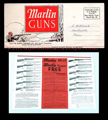 "1937 Marlin Guns ""Free Gun / Promissory Note"" Folder"
