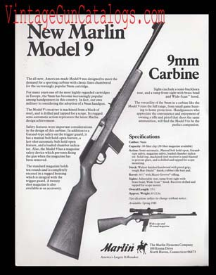 1984-85 Marlin Model 9 Carbine Broadsheet