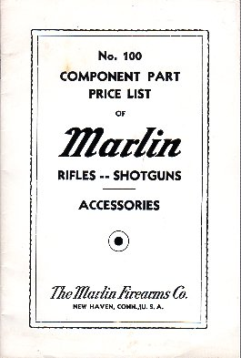1937 Marlin Component Part Price List