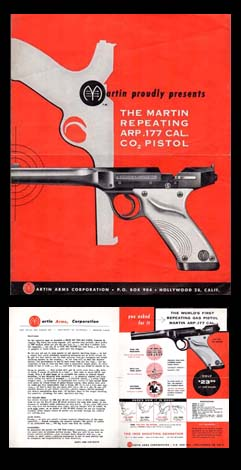 1955 Martin Air Pistol Catalog