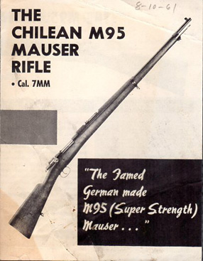 Ca.-1961 Chilean M95 Instructions