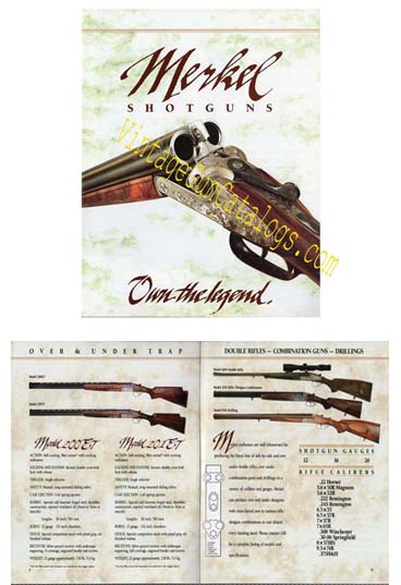 1993 Merkel Shotguns Catalog