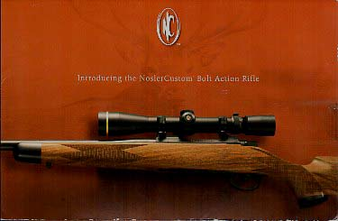 2005 Nosler Custom Rifle Folder