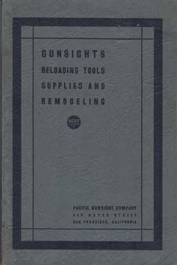 1930 Pacific Gunsight Co. Catalog