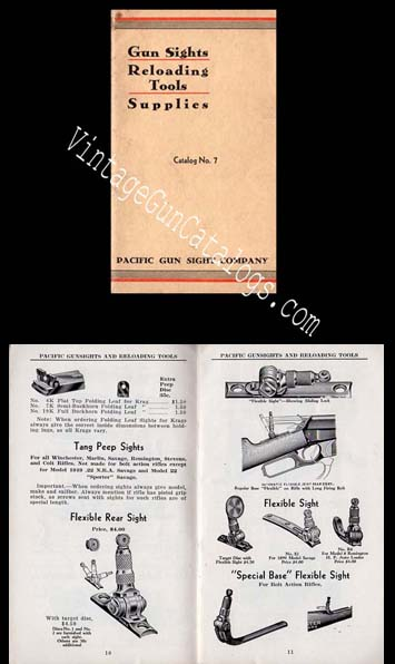 1930's Pacific Gun Sight Catalog