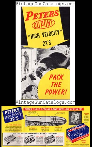 "1950's ""Peters High Velocity 22's"" Folder/Brochure"