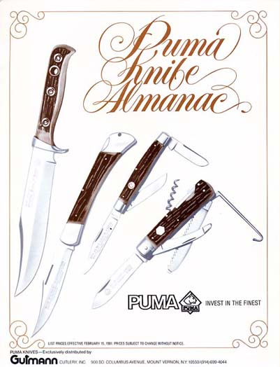1981 Puma Knife Catalog