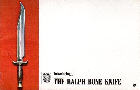 1970 Ralph Bone Knife Catalog