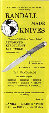 1970 Randall Made Knives Catalogue