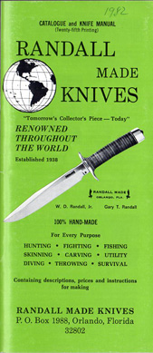 1982 Randall Made Knives Catalogue