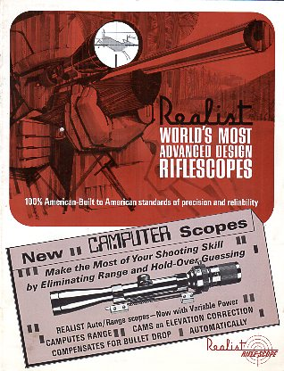 1960's Realist Inc. Scope Catalog