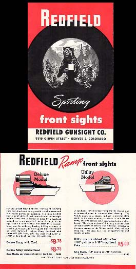 1940-50's Redfield Sights Catalog