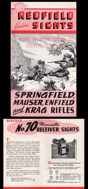 1940-50 Redfield Receiver Sights