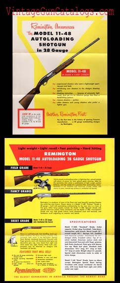 1952 Remington 28 Ga.Mod.11-48 Shotgun Announcement