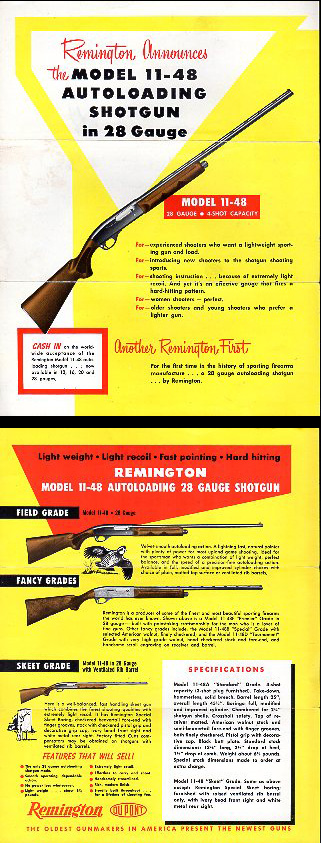 1952 Remington 11-48 Broadsheet