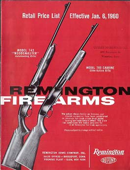 1960 Remington Retail Prices Catalog