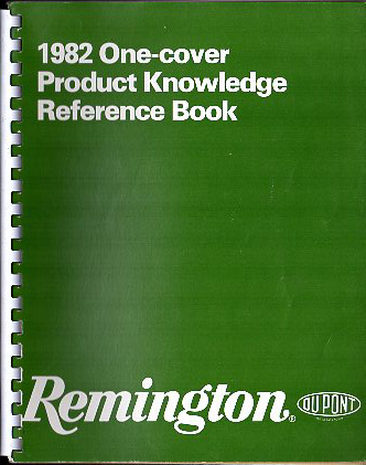 "1982 Remington ""One-Cover Product Knowledge Reference Book"""