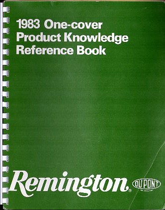 "1983 Remington ""One-Cover Product Knowledge Reference Book\"""