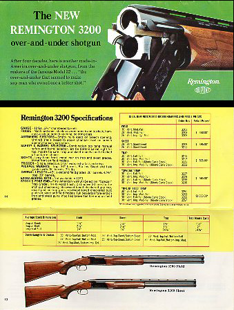 1973 Remington 3200 Catalog