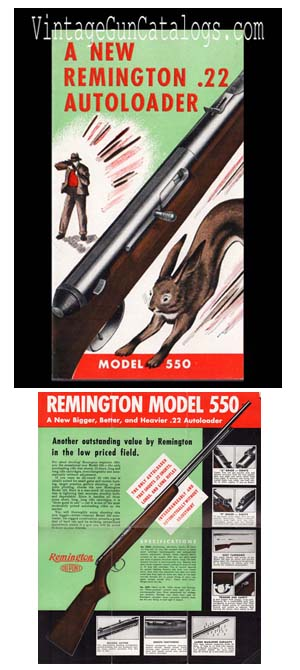 1940's Remington Model 550 .22  Brochure