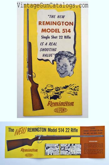 1950 Remington Mod.514 Single Shot .22 Brochure