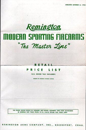 1946 Remington Price List