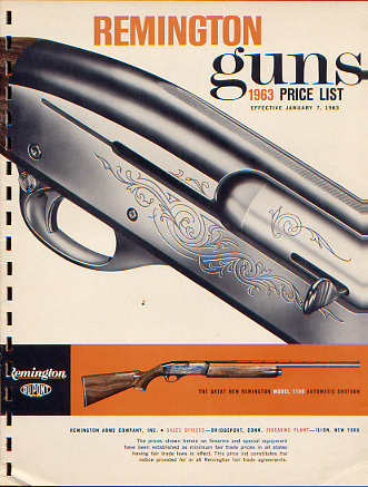 1963 Remington Retail Price List