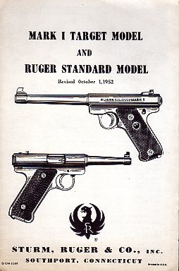 1959 Ruger Mark 1 Target & Standard Instructions
