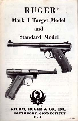 1964 Ruger Mark 1 Target & Standard Instructions